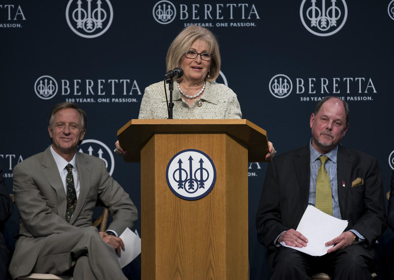 Rep. Diane Black of Gallatin speaks at the opening of a Beretta gun plant in Sumner County.