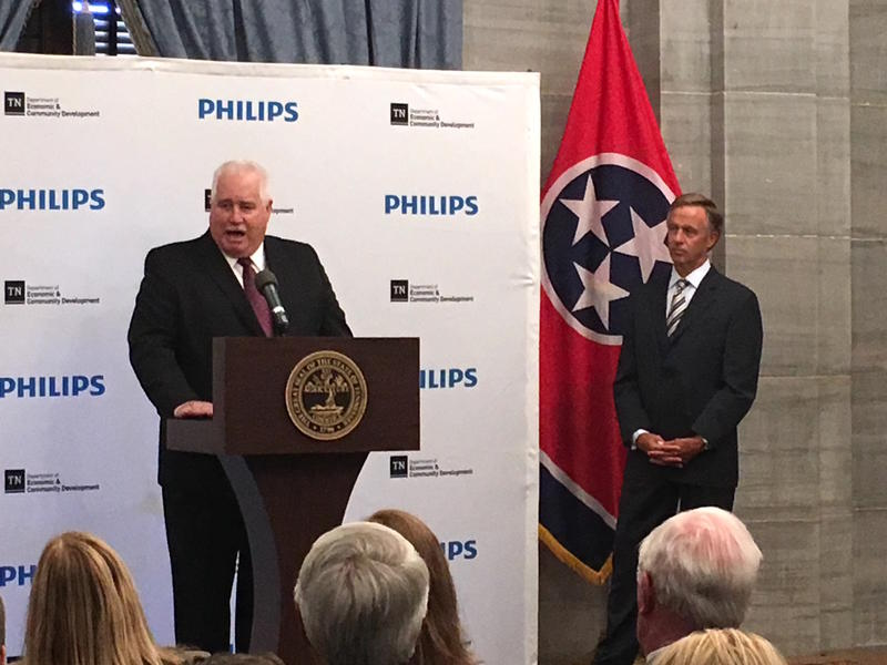 Philips' leader for business services in North America Craig Gruchacz announced his company will consolidate operations in the U.S. with a new Nashville office.