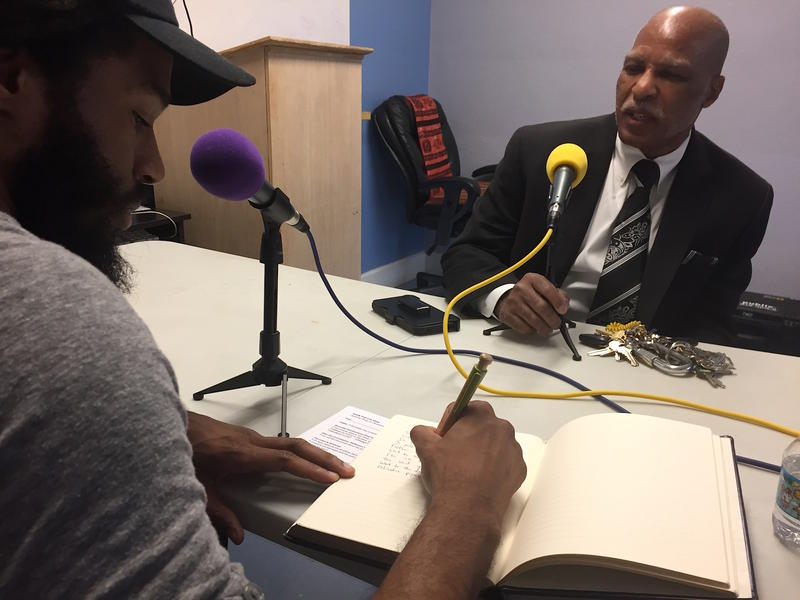 Poet and rapper Saran Thompson interviews nonprofit leader Fred Bailey of Gallatin, who was born blind and didn't know it until he was in elementary school.