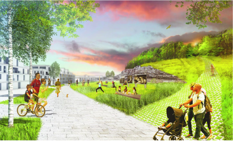 A rendering of the Cloud Hill redevelopment.