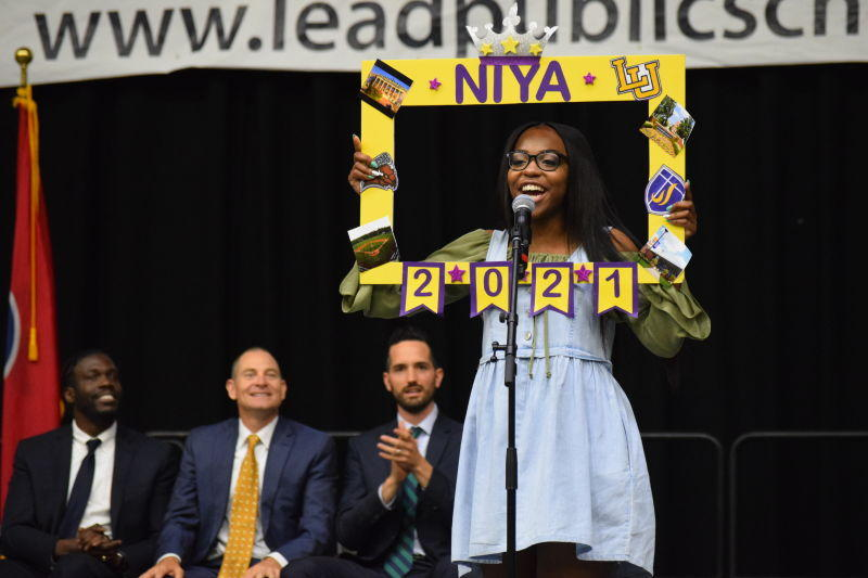LEAD Public Schools has had four graduating classes, and administrators say all students have been accepted to college, though the district has pointed out the organization's high rate of attrition.