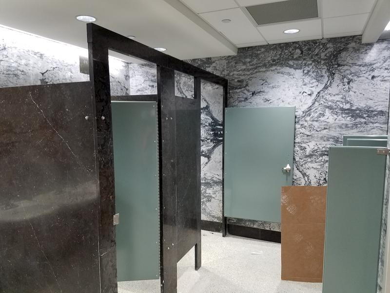 Even many of the bathrooms in the Cordell Hull Building feature historic marble finishes.