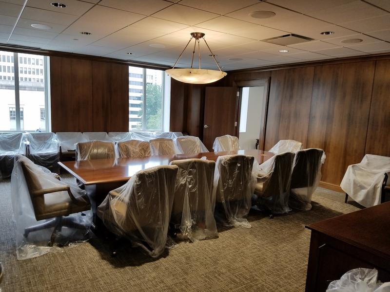 A conference room inside the office of the Senate Speaker.