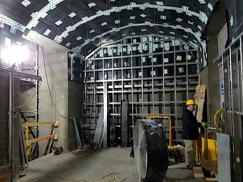 An elevator bank will connect the tunnel to the State Capitol. Engineers say the elevators will be twice as fast as the current lifts.