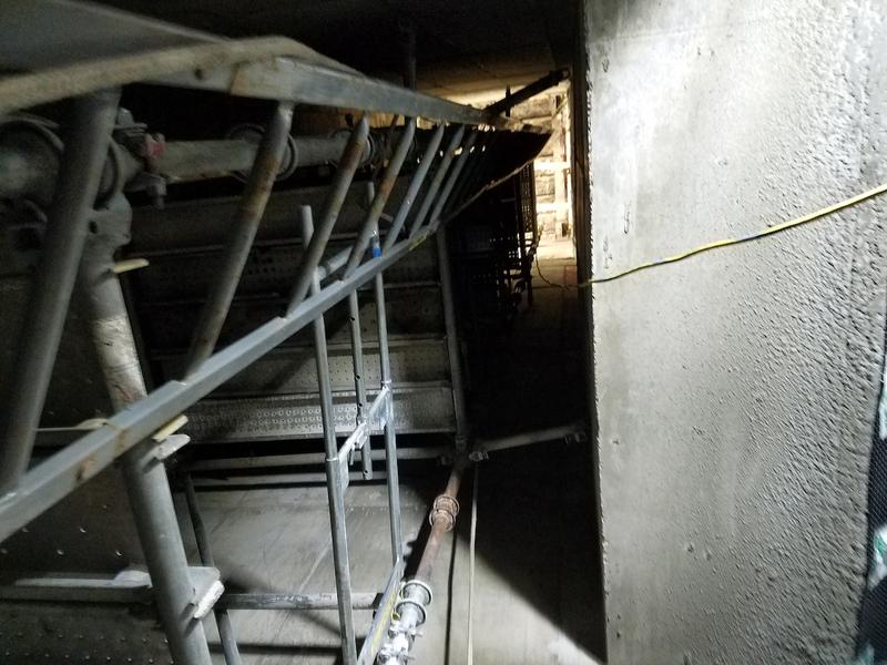 A view up the elevator shaft. The tunnel connecting Cordell Hull to the Capitol is five stories lower than the tunnel that connects the Capitol to Legislative Plaza.