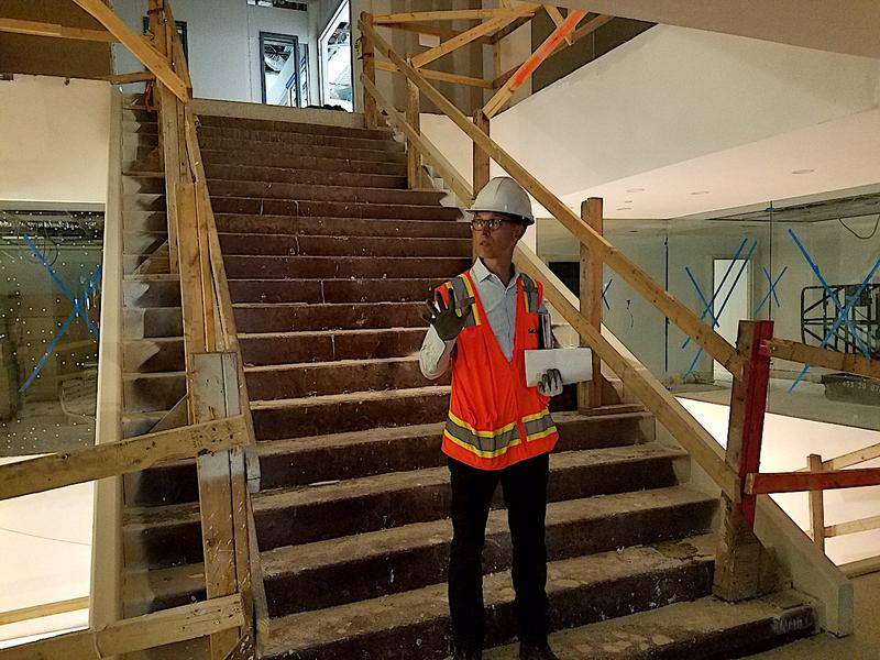 A grand staircase will connect the first three floors of the building. Architect David Plummer says this will make navigating the building intuitive.