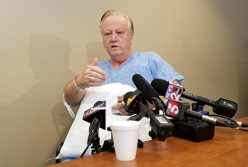 Minister Joey Spann says he's recovering well but has no idea why his church was targeted by a gunman.