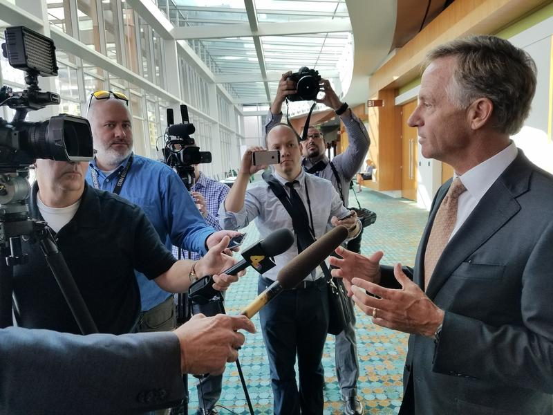 Gov. Bill Haslam told reporters Thursday that he's frustrated with how politicized the debate over health care has become.