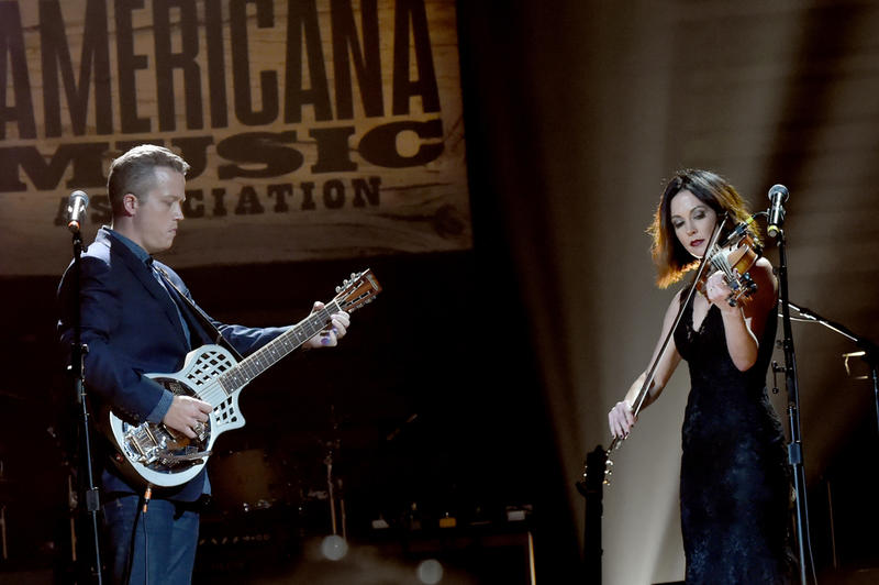"Jason Isbell and Amanda Shires electrify the crowd with a performance of Isbell's duet, ""If We Were Vampires."""