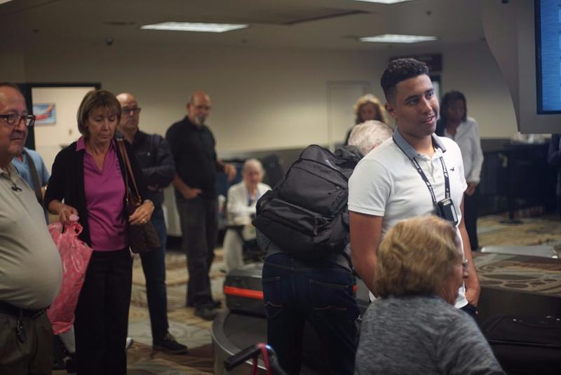 Several flights with evacuees from Miami and Fort Lauderdale arrived Thursday afternoon.