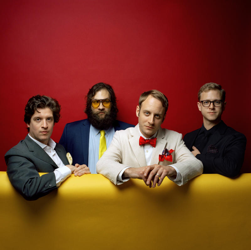 The band Deer Tick featuring Nashville songwriter John McCauley, second from right