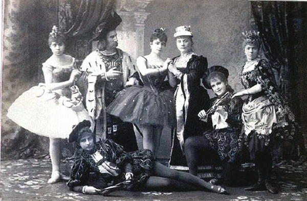 "The original cast of ""The Sleeping Beauty"" at the Mariinsky Theatre in St. Petersburg, 1890"