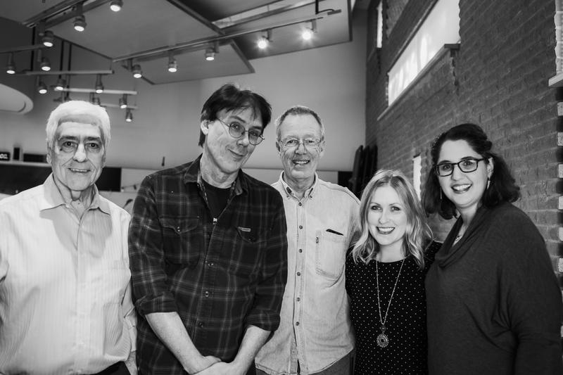 91Classical's hosts and audio engineer were all smiles at the end of the first-ever Radio Fest. From left: Will Griffin, Ed Lambert, Carl Pedersen, Kara McLeland and Nina Cardona.
