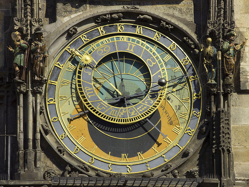 The 600 year-old astronomical clock in Prague's old town