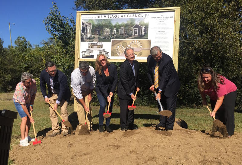 A community of 22 micro homes for the homeless broke ground on Wednesday, despite community opposition.