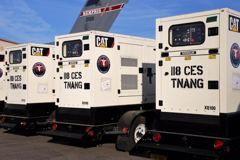 The 118th Civil Engineer Squadron is taking eight of these commercial grade generators to Puerto Rico.