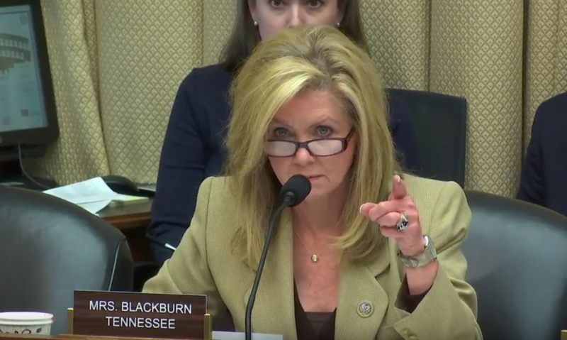 Rep. Marsha Blackburn, R-Brentwood, asked representatives from drug-related agency whether any statute was keeping them from responding to the opioid crisis.