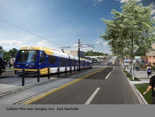 Renderings show what light rail could look like on Gallatin Road.