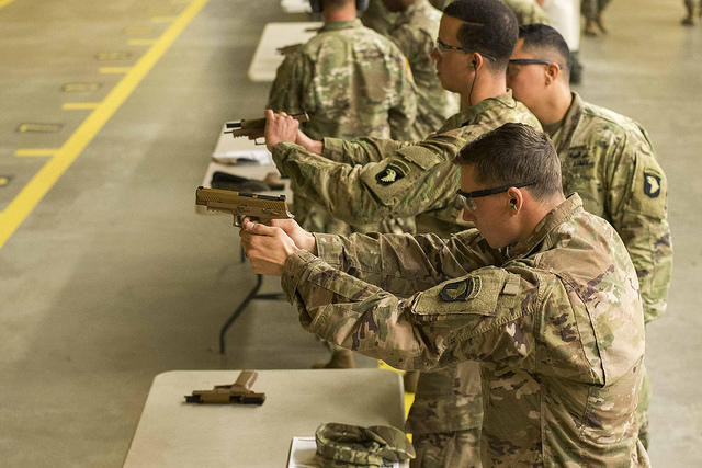 Members of the 101st Airborne had the opportunity to use the firearms for the first time on November 27th.