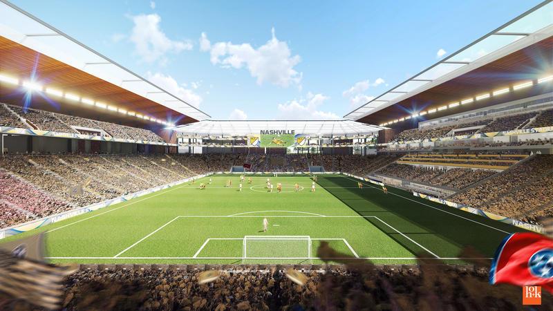 Nashville soccer stadium rendering