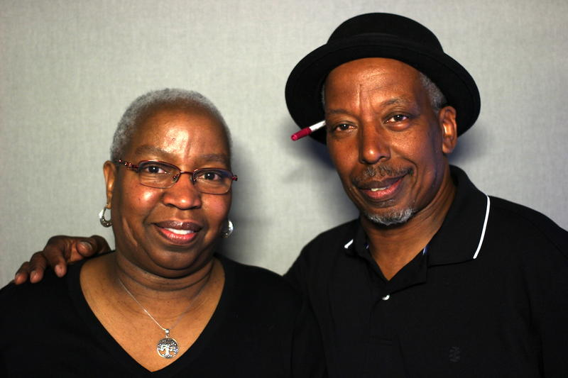 Michael Turney, right, and his sister Betty Turney-Turner stop by the StoryCorps booth in Nashville in 2016.