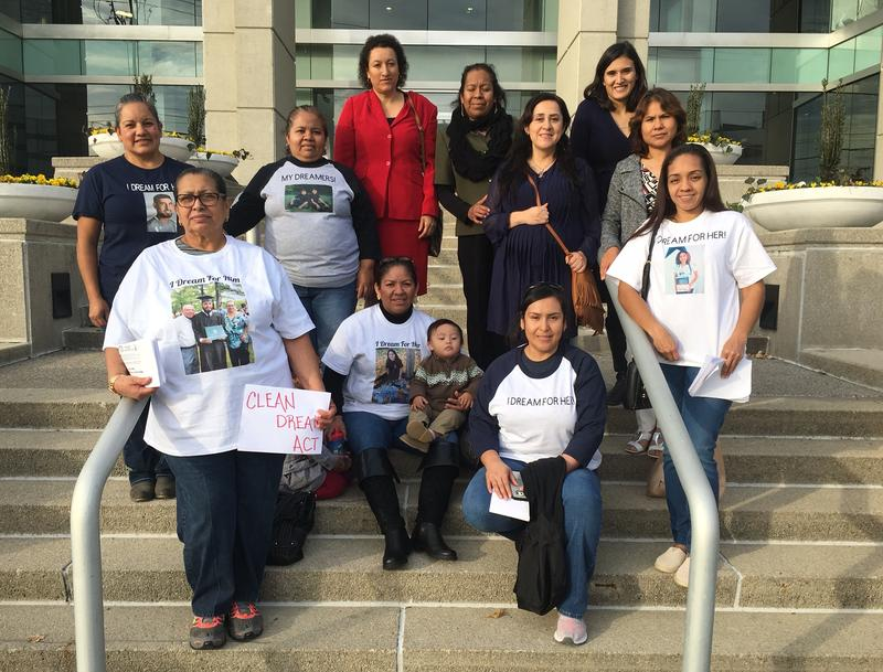 Some of the mothers of DACA recipients who visited the offices of Sens. Corker and Alexander to deliver Christmas cards and urge them to pass a clean DREAM Act before the Christmas holiday.