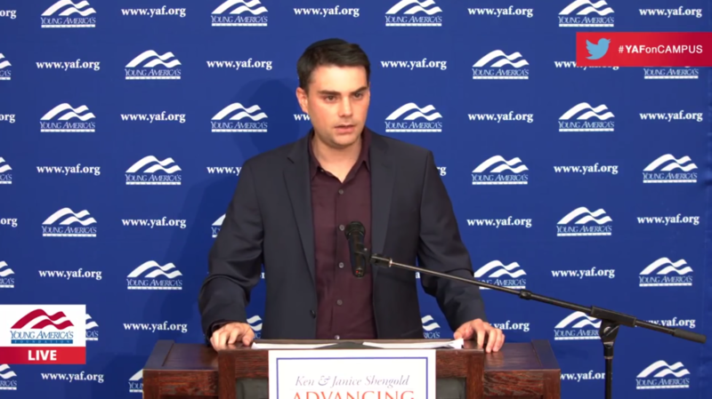 Conservative commentator Ben Shapiro speaks to University of Tennessee-Knoxville students in October. A new state law makes it harder for campuses to turn away controversial speakers.