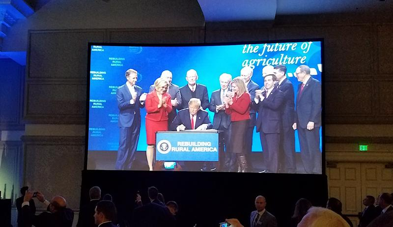 Republican members of Tennessee's congressional delegation shared the stage during an appearance in Nashville earlier this week, as President Donald Trump signs a pair of executive orders meant to expand rural broadband.