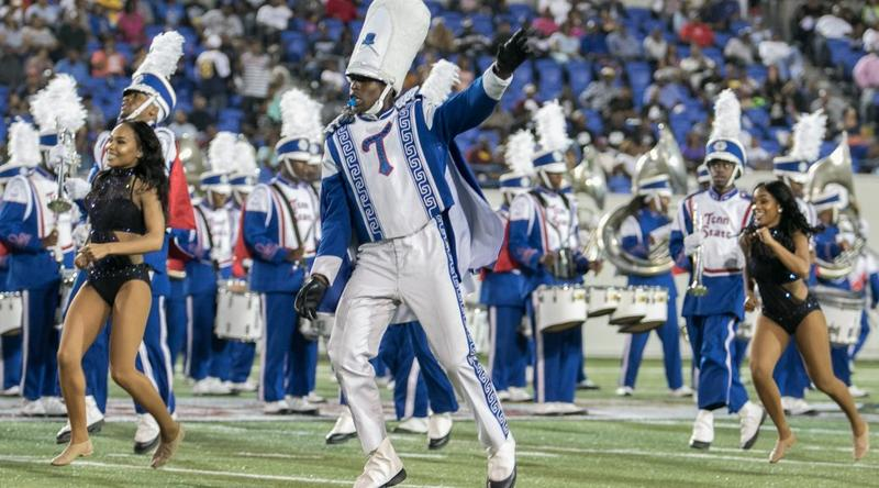 TSU's Aristocrat of Bands, shown here at a previous performance, played in Atlanta over the weekend at an exhibition showcasing HBCU marching bands