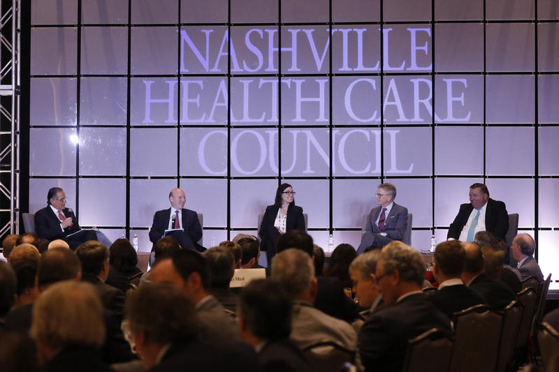 Analysts who follow health care companies — many based in Nashville — took questions from moderator Wayne Smith, CEO of Franklin-based Community Health Systems.