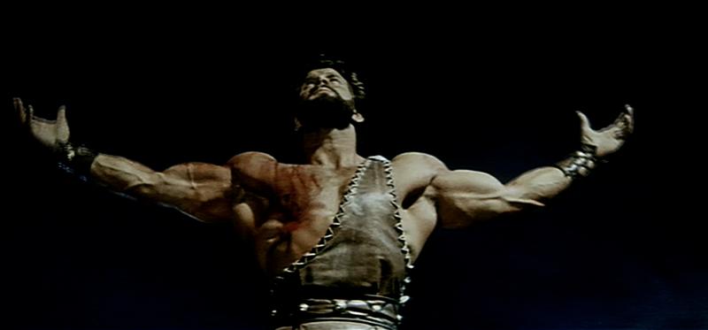 "Bodybuilder Reg Park as Hercules in 1961's ""Hercules in the Haunted World"""