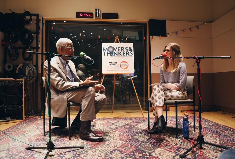 Rip Patton talks to WPLN's Emily Siner during the live taping of our podcast Movers & Thinkers in December 2017.