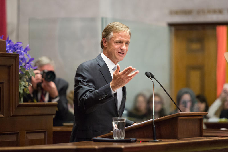 """Gov. Bill Haslam says state leaders should not """"lose momentum"""" as he enters his last year in office."""