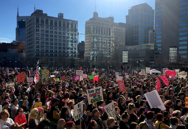 At least 15,000 people are said to have participated in the 2017 Women's March in Nashville