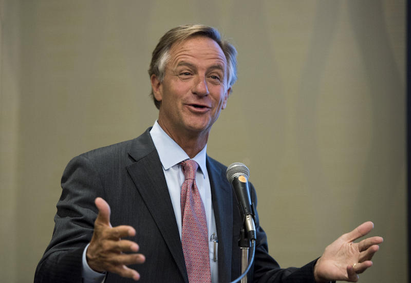 Gov. Bill Haslam says a work requirement might build support for Medicaid expansion.