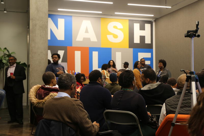 "Residents of Nashville gathered at the Google Fiber office for a special panel organized as part of ""Black Geek Week,"" a black history month celebration organized by local tech and business leaders."