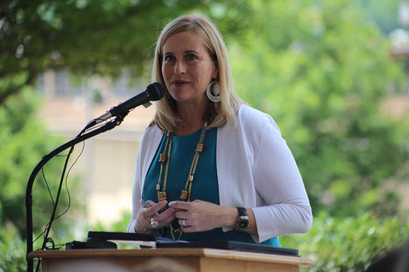 After Mayor Megan Barry, seen here in a file photo from June 2017. admitted last week to taking part in an affair with the head of her security detail, Metro Police Sargeant Rob Forrest. Citizens and officials have called for an investigation.