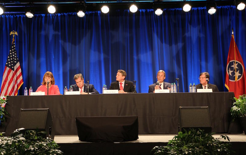 The Nashville Health Care Council and Healthier Tennessee hosted a forum for the candidates to be Tennessee Governor at Trevecca Nazarene University. Congressman Diane Black did not attend.