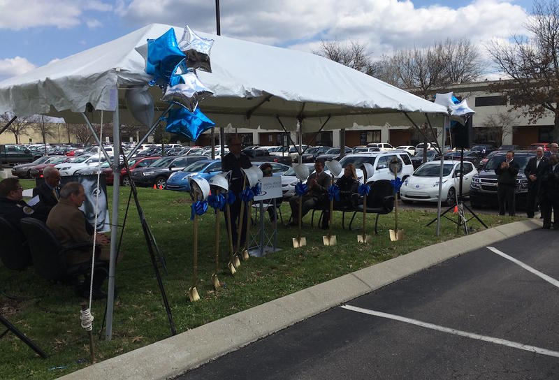 The one-acre lot that will house the jail diversion program is next door to the Mental Health Cooperative's office in MetroCenter. Mayor David Briley spoke at the groundbreaking, noting that it was his first as mayor.