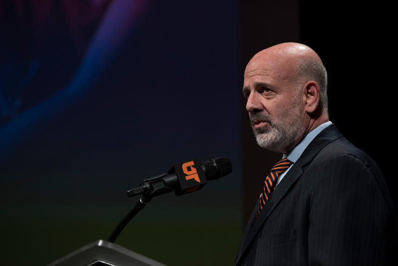 UT President Joe DiPietro delivers his annual State of the University address at the Nashville Public Library.