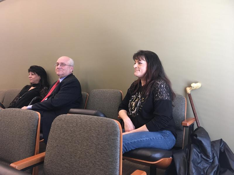 Melody Cashion sits in the Marshall County courthouse before a hearing in February. Her jury trial was scheduled for Oct. 29-30 but was called off just days before.