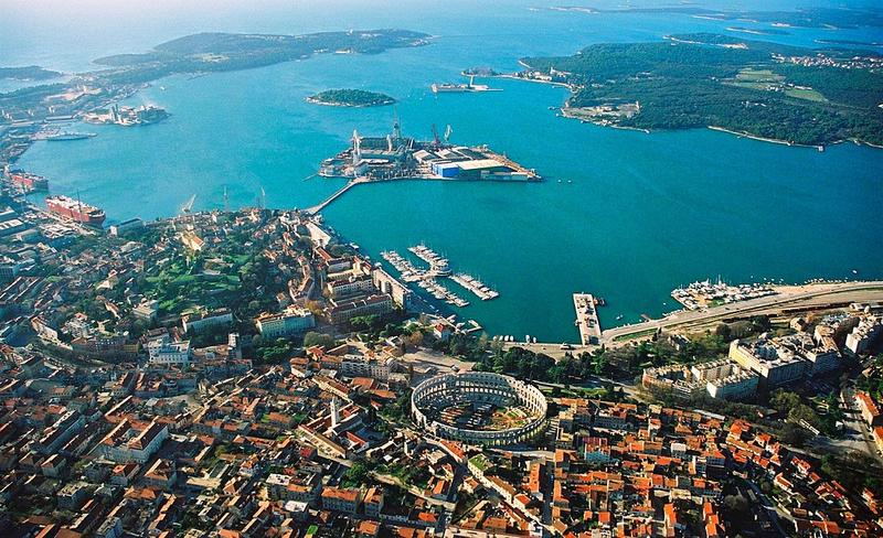 Pula is home to one of the world's best-preserved Roman amphitheatres.