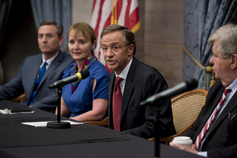 """Gov. Bill Haslam would not say at a press conference following the end of the legislative session whether he'll veto a measure deadling with """"sanctuary"""" immigration policies."""