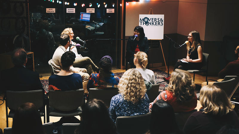 Movers & Thinkers is taped live in front of an audience in Nashville Public Radio's Studio C.
