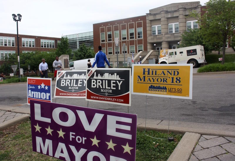 The 13 the candidates for mayor are divided over whether to raise taxes to fund Metro Schools.