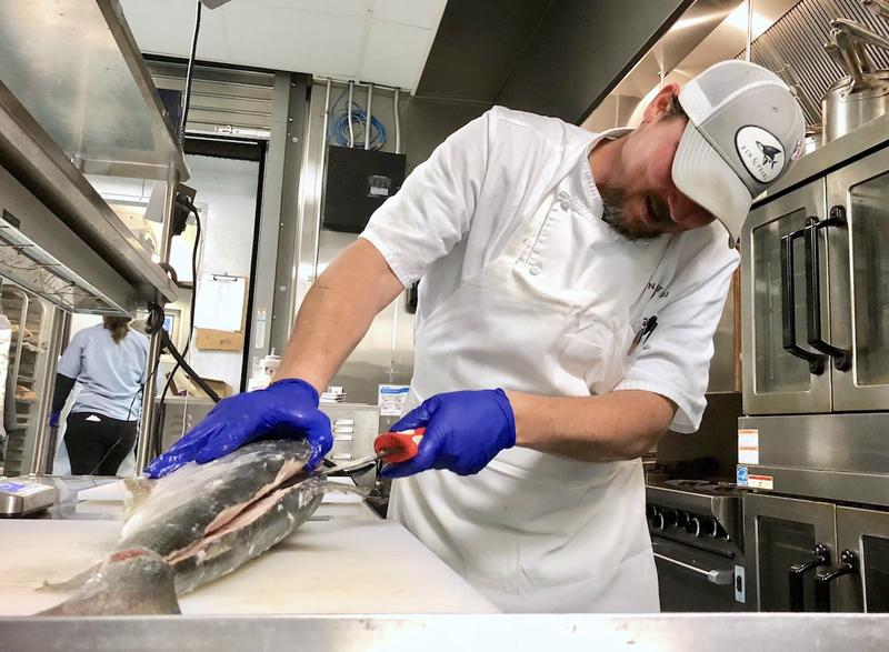 Chef Kevin Powell cuts into an Alaskan inconnu, a less commonly served whitefish, for the first time and ponders the culinary possibilities.