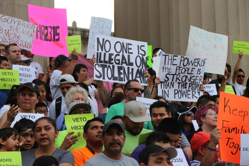 "Hundreds of opponents of a bill meant to clamp down on ""sanctuary city"" policies rallied earlier this month at the Tennessee State Capitol."
