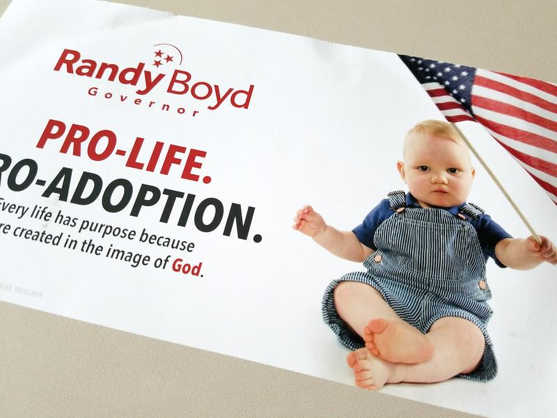 Republican businessman Randy Boyd has been touting his position on abortion in mailers and ads.
