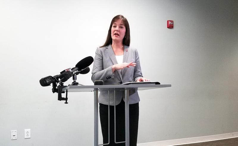 Education Commissioner Candice McQueen announced changes to next year's online testing at a press conference Thursday.