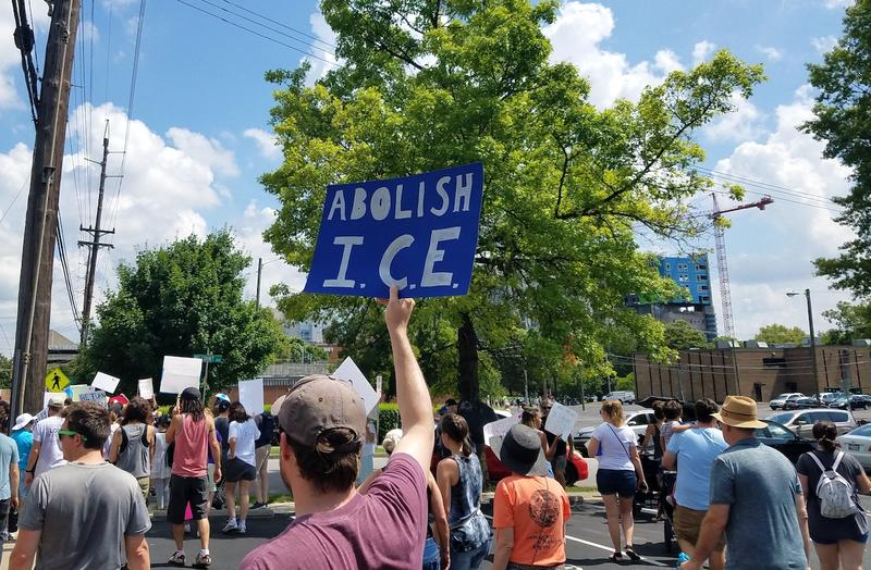 Many protesters also called for shutting down Immigration and Customs Enforcement, the agency responsible for enforcing many of the Trump administration's immigration policies.